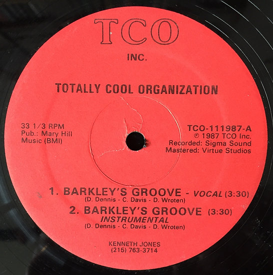 Totally Cool Organization ‎– Barkley's Groove -VG+