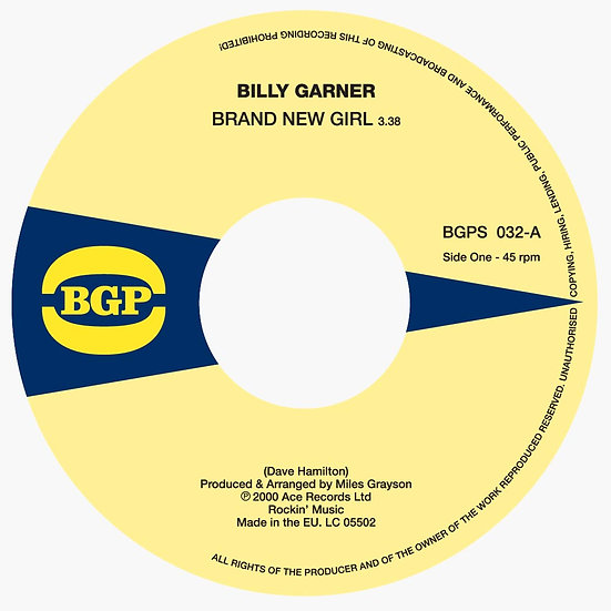 Billy Garner ‎– Brand New Girl / I Got Some Part 1