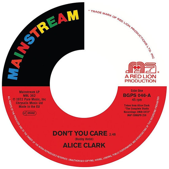 Alice Clark ‎– Don't You Care / Never Did I Stop L