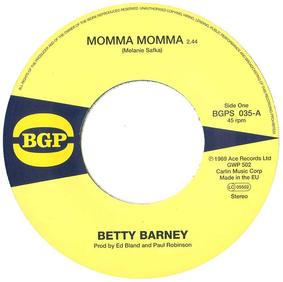 Betty Barney / The Chili Peppers* ‎– Momma Momma /