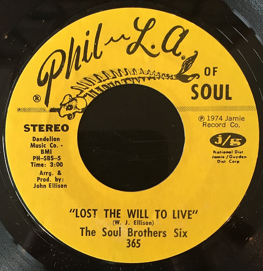 Soul Brothers Six ‎– Lost The Will To Live