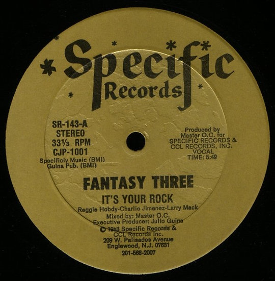 Fantasy Three ‎– It's Your Rock VG+