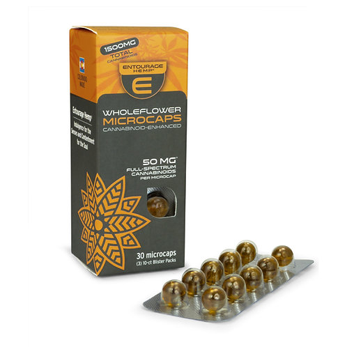 30-ct WholeFlower Microcaps 50mg per Softgel: 1,500mg Total