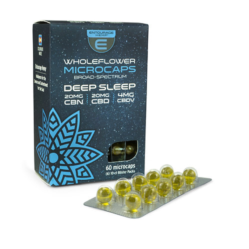 60-ct Deep Sleep Microcaps 20mg CBN 20mg CBD 4mg CBDV