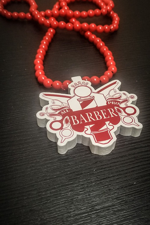 Red All Pro Barber Nacklace
