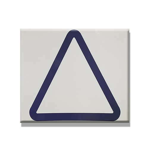 Laminated Blue Triangle