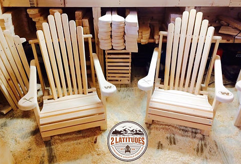 Adirondack Lawn Chairs with Weston, CT Lacrosse Logo