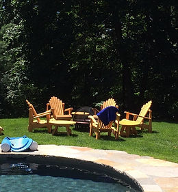Adirondack Lawn Chairs by Firepit