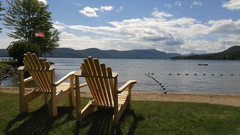 Adirondack Lawn Chairs at Beach