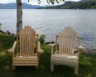 Adirondack Lawn Chairs on Lake