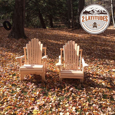 Adirondack Lawn Chairs in Fall