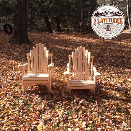 Adirondack Lawn Chairs in Fall
