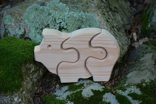 Children's Puzzle - Pig