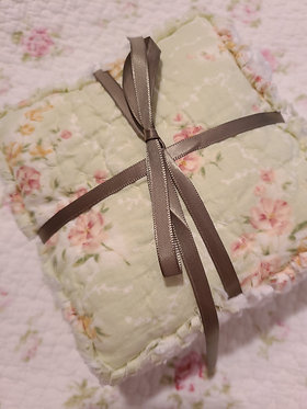 Quilted Floral Dried Lavender Sachets, Set of 4