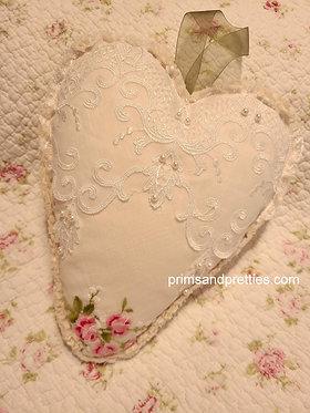 Hanging Heart Dried Lavender Sachet