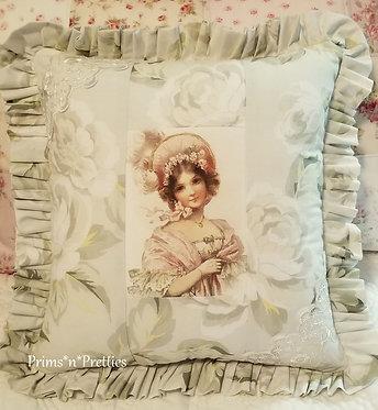Georgian Woman Sachet Pillow