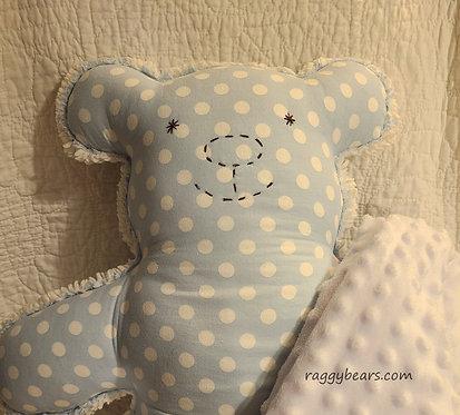 LRG Raggy Bear #6 Blue Polka Dot