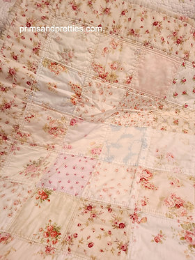 QUILT #1  Cottage Roses Baby Quilt