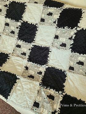 Safari Animals Rag quilt
