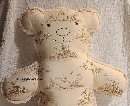 LRG Raggy Bear #5 Pooh Bear