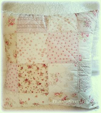 XLG Cottage Roses Floral Pillow & Sham #2