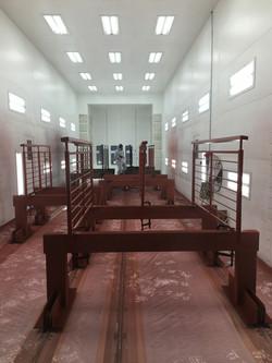 Railings Being Prime Painted