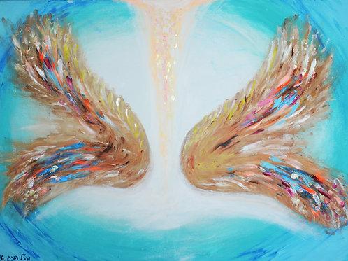 כנפיי מלאך | אקריל על קנבס