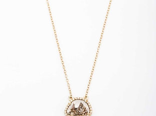 BROWN SLICE DIAMOND NECKLACE