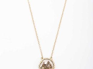 BROWN SLICE DIAMOND NECKLACE