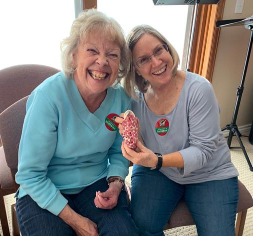 Carol and Robbin at OCC creation party.j