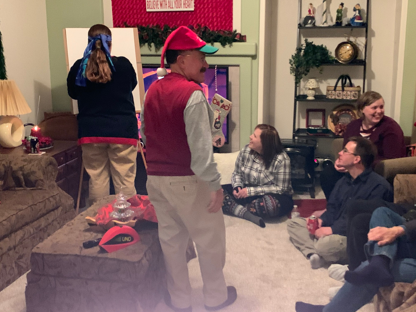 Jennifer and others at Christmas party.j