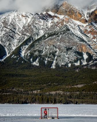 Pyramid Lake in winter