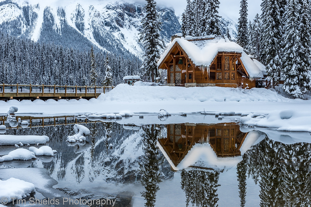 Emerald Lake in winter, Yoho National Park
