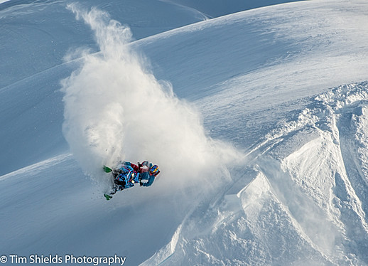Snowmobiling in Whistler on the Pemberton Icecap glacier.