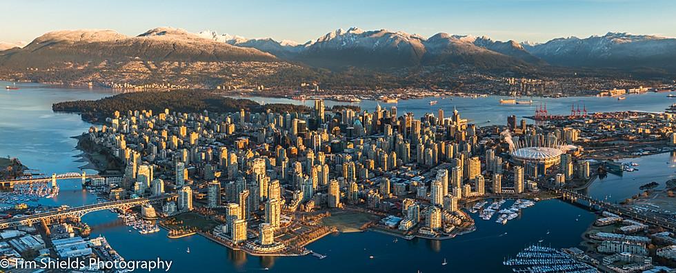 Vancouver City Aerial photo.