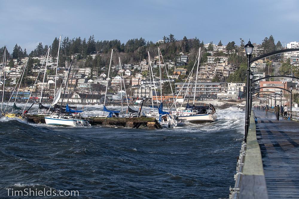 White Rock boats hitting pier