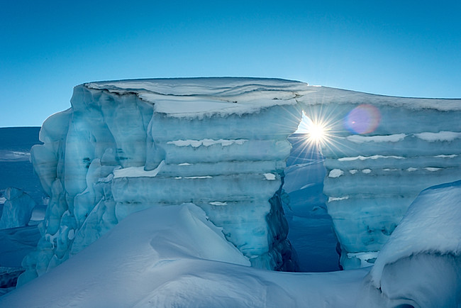 Glacier Ice on the Pemberton Icecap Glacier, Whistler, BC