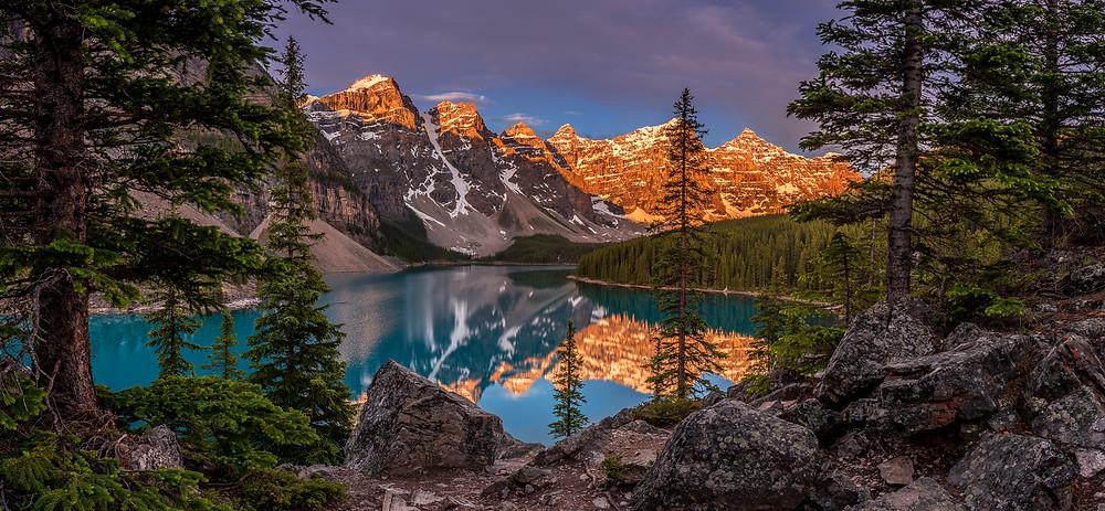 Adobe Lightroom CC Photographers Plan.... used to edit this panorama photo of Moraine Lake