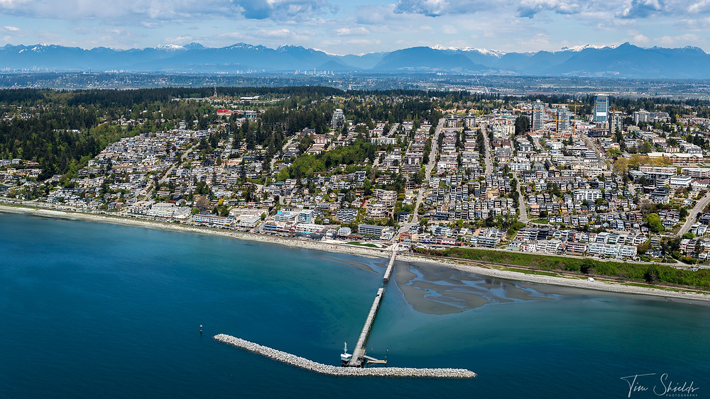 White Rock Pier from the air - high resolution 47 MP image