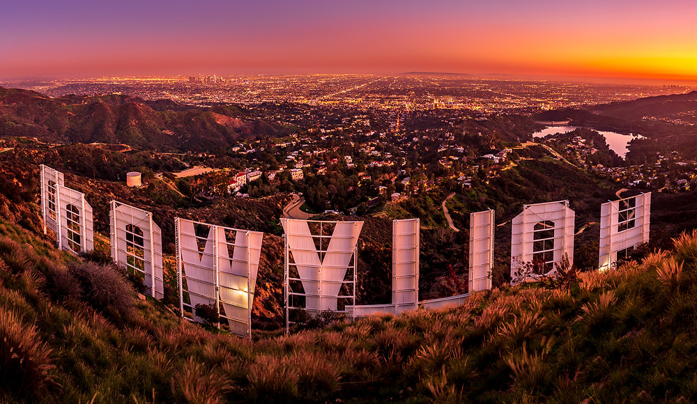 Back of the Hollywood Sign by Tim Shields Photography