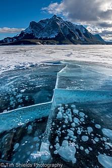 Abraham Lake ice cracks