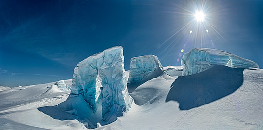 Glacier sculptures from the Pemberton Icecap, Whistler, BC