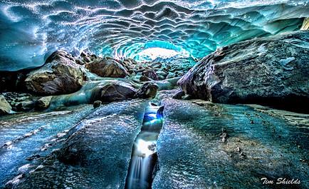 Ice Cave on the Pemberton Icecap