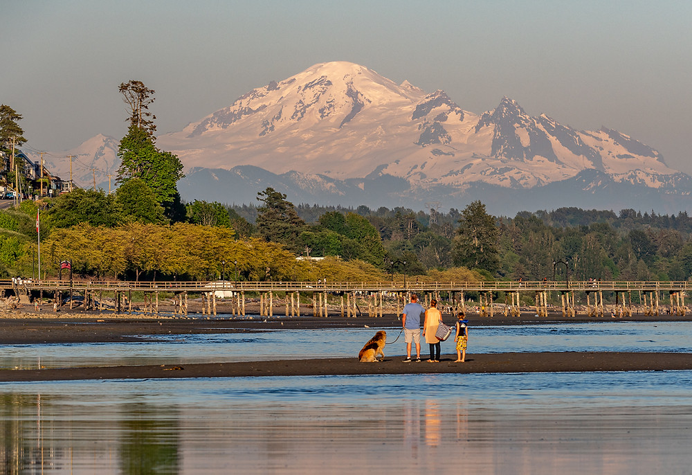 White Rock BC, White Rock Beach, Mount Baker Sunset, White Rock Pier, Vancouver