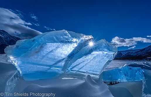 Ice sculptures, Abraham Lake