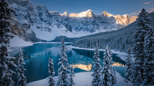 Moraine Lake under snow - a once in a lifetime experience.  Seriously.