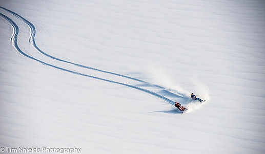 Snowmobiling on the Pemberton Icecap, Whistler, BC