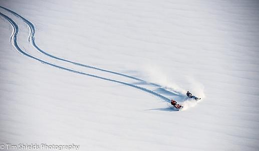 Snowmobiling on the Pemberton Icecap, Whistler, BC