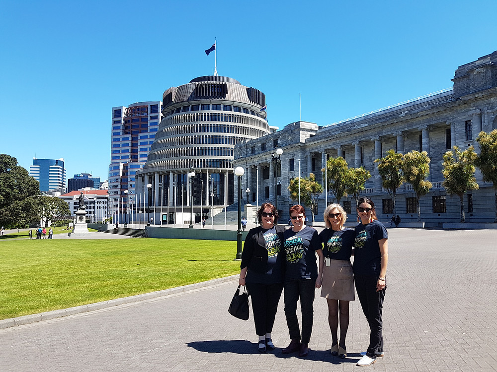 Celebrating the launch of the Eat Well, Live Well Diabetes NZ recipe book launch at parliament.