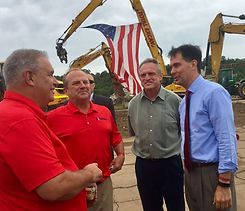 Stanley & Wencl President Dan Stanley (second from right) with Wisconsin Governor Scott Walker.